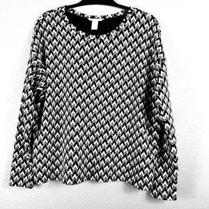 H&M Zig-Zag Long Sleeve Sweater